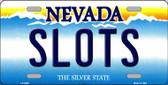 Slots Nevada Background Novelty Metal License Plate
