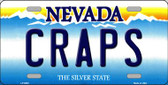 Craps Nevada Background Novelty Metal License Plate