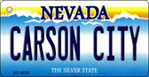 Carson City Nevada Background Novelty Key Chain