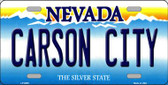 Carson City Nevada Background Novelty Metal License Plate