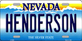 Henderson Nevada Background Novelty Metal License Plate