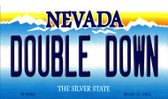 Double Down Nevada Background Novelty Metal Magnet