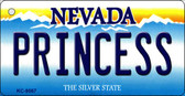 Princess Nevada Background Novelty Key Chain