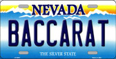 Baccarat Nevada Background Novelty Metal License Plate
