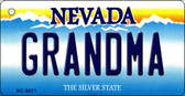 Grandma Nevada Background Novelty Key Chain