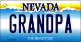 Grandpa Nevada Background Novelty Key Chain