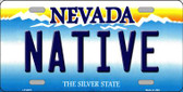 Native Nevada Background Novelty Metal License Plate