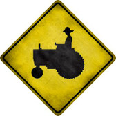 Tractor Novelty Metal Crossing Sign