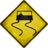 Slippery Road Novelty Metal Crossing Sign