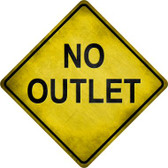 No Outlet Novelty Metal Crossing Sign