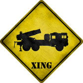 Missile Launcher Xing Novelty Metal Crossing Sign