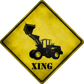 Dozer Xing Novelty Metal Crossing Sign