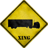 Semi Truck Xing Novelty Metal Crossing Sign
