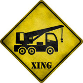 Crane Xing Novelty Metal Crossing Sign
