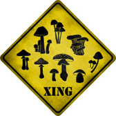 Mushrooms Xing Novelty Metal Crossing Sign