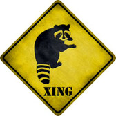 Raccoon Xing Novelty Metal Crossing Sign