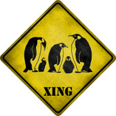 Penguin Xing Novelty Metal Crossing Sign