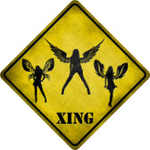 Angels Xing Novelty Metal Crossing Sign