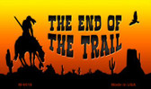 End Of Trail Scenic Background Novelty Metal Magnet