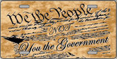 We The People Metal Novelty License Plate