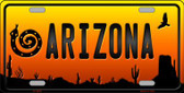 Snake Arizona Scenic Background Novelty Metal License Plate