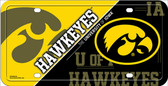 Iowa Hawkeyes Deluxe Novelty Metal License Plate