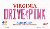 Drive Pink Virginia Novelty Metal Magnet