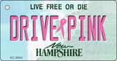 Drive Pink New Hampshire Novelty Key Chain