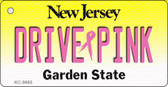 Drive Pink New Jersey Novelty Key Chain