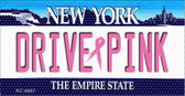 Drive Pink New York Novelty Key Chain