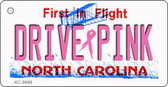 Drive Pink North Carolina Novelty Key Chain