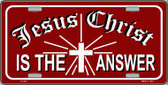 Jesus Christ Is The Answer Metal Novelty License Plate