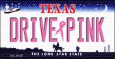 Drive Pink Texas Novelty Key Chain