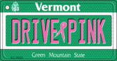 Drive Pink Vermont Novelty Key Chain