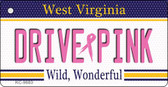Drive Pink West Virginia Novelty Key Chain