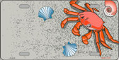 Crab And Seashells Metal Novelty License Plate LP-2373