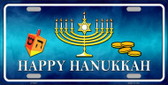 Happy Hanukkah Novelty Metal License Plate