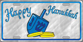 Happy Hanukkah Dreidel Novelty Metal License Plate