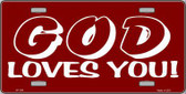 God Loves You Metal Novelty License Plate