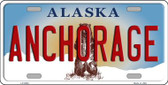 Anchorage Alaska State Background Novelty Metal License Plate