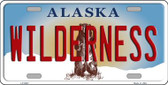 Wilderness Alaska State Background Novelty Metal License Plate