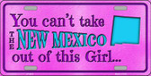 New Mexico Girl Novelty Metal License Plate