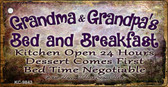 Grandma And Grandpas Bed & Breakfast Novelty Metal Key Chain