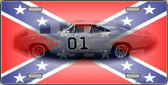Confederate Flag Charger Metal Novelty License Plate LP-2401