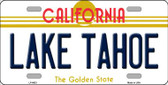 Lake Tahoe California Background Novelty Metal License Plate