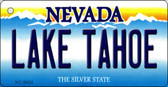 Lake Tahoe Nevada Background Novelty Metal Key Chain