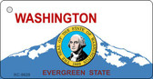 Washington Background With Seal Novelty Metal Key Chain