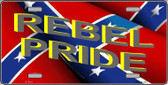 Rebel Pride Metal Novelty License Plate