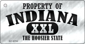 Property Of Indiana Novelty Metal Key Chain