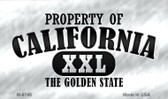 Property Of California Novelty Metal Magnet